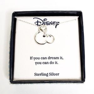 Disney NWT Sterling Silver Necklace